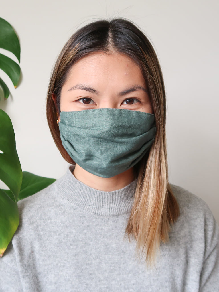 LINEN Reusable Face Mask - 3 Layers with Filter