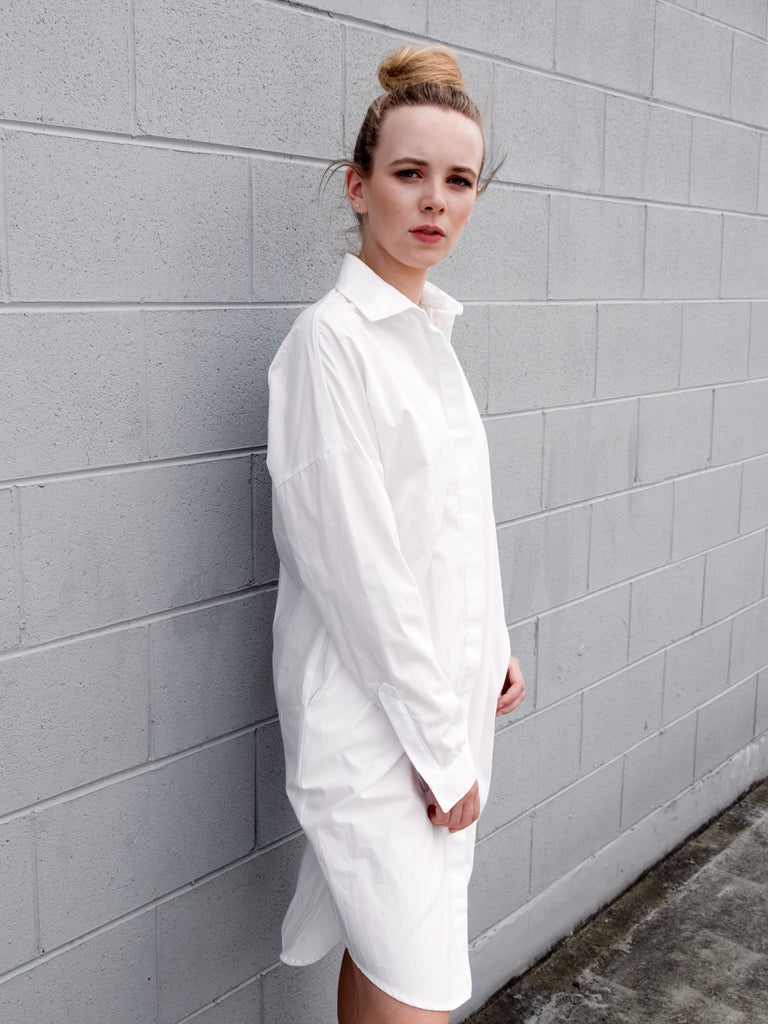 Women's Shirt Dress - Organic Cotton