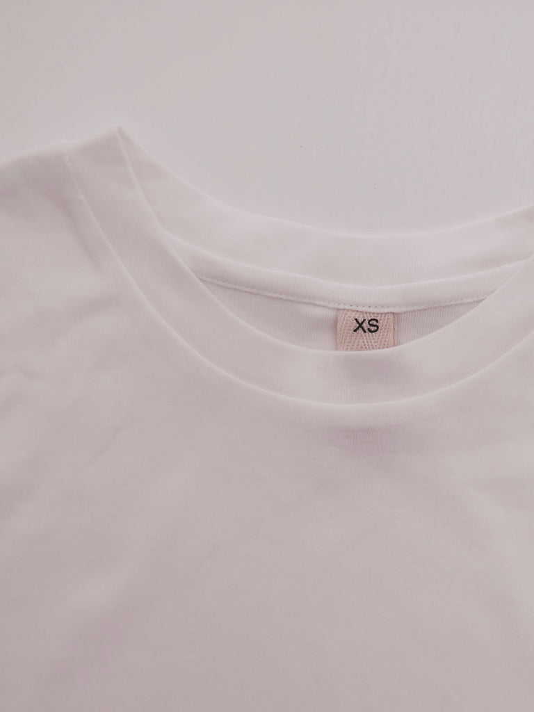 Women's Organic Cotton Bamboo Rib Tee - White