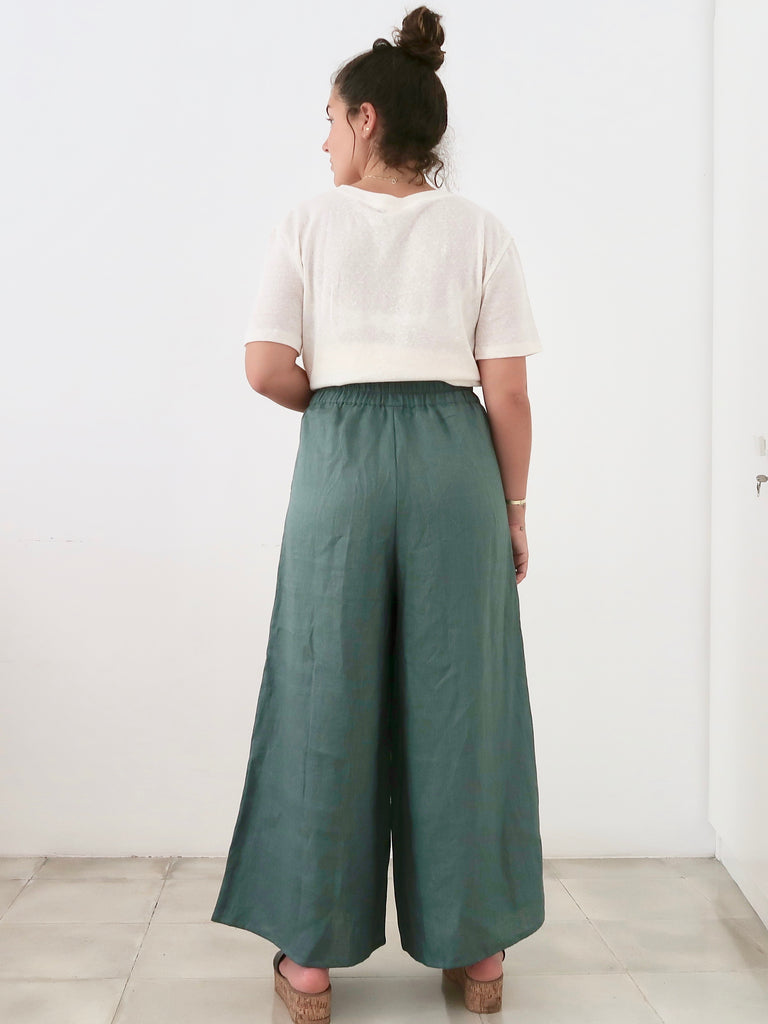 Women's Full Length Culotte (Green)