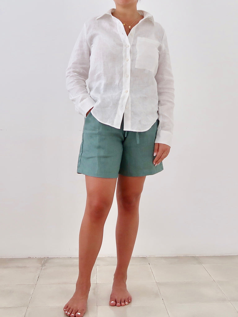 Women's Linen Shirt (White)