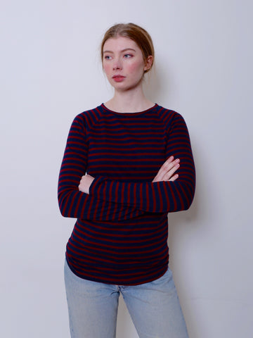 Women's Boyfriend Jumper (Misty Stripe)