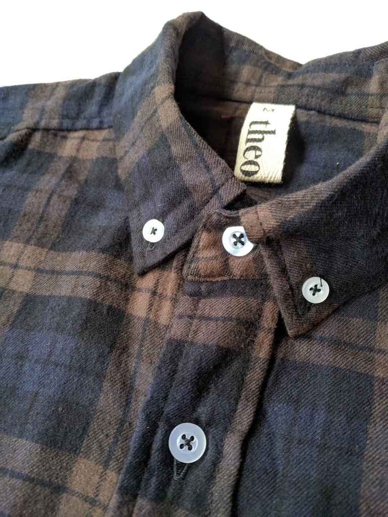 Men's Flannel Shirt - Brown Plaid