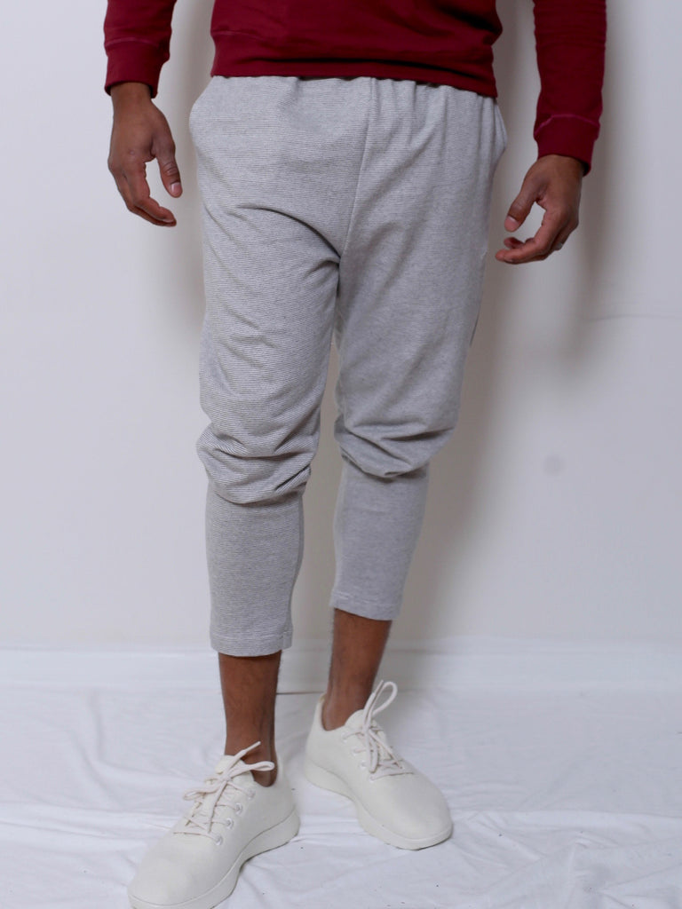 Men's Cotton Jogger (Grey Stripe)