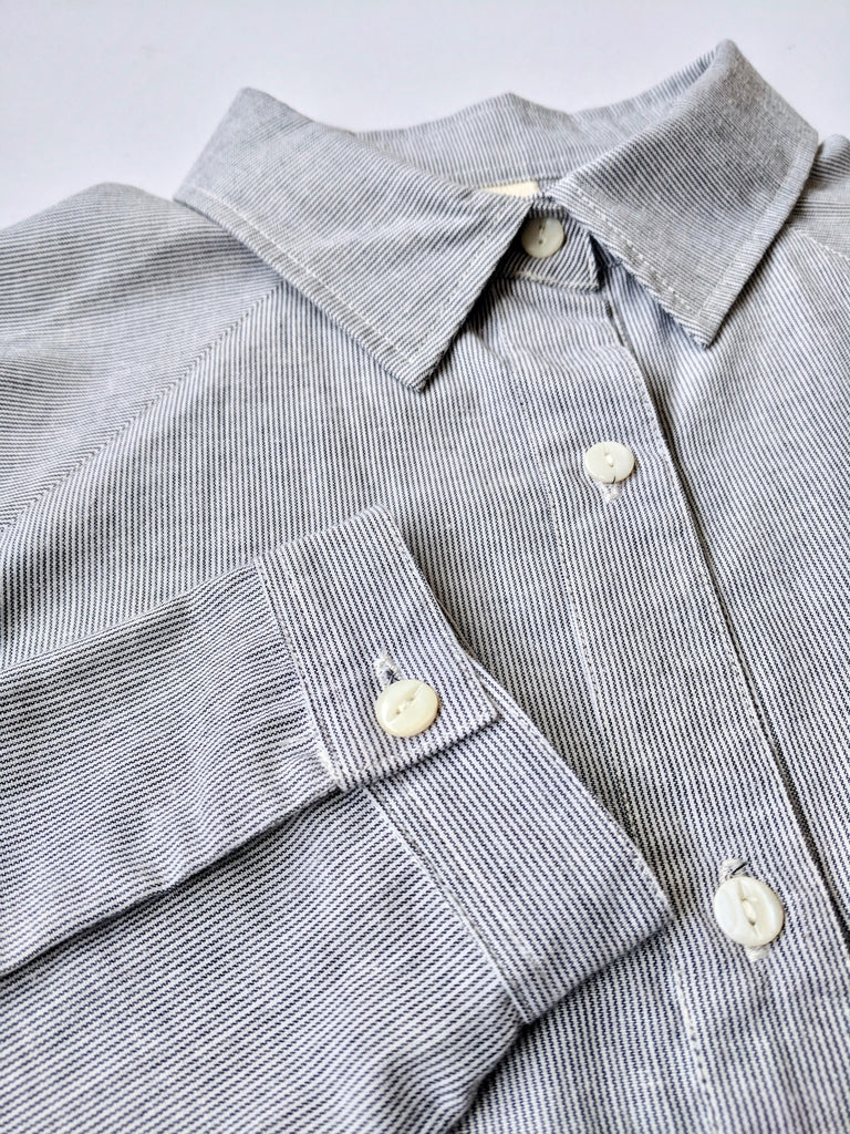 Women's Cotton Shirt (Pinstripe)