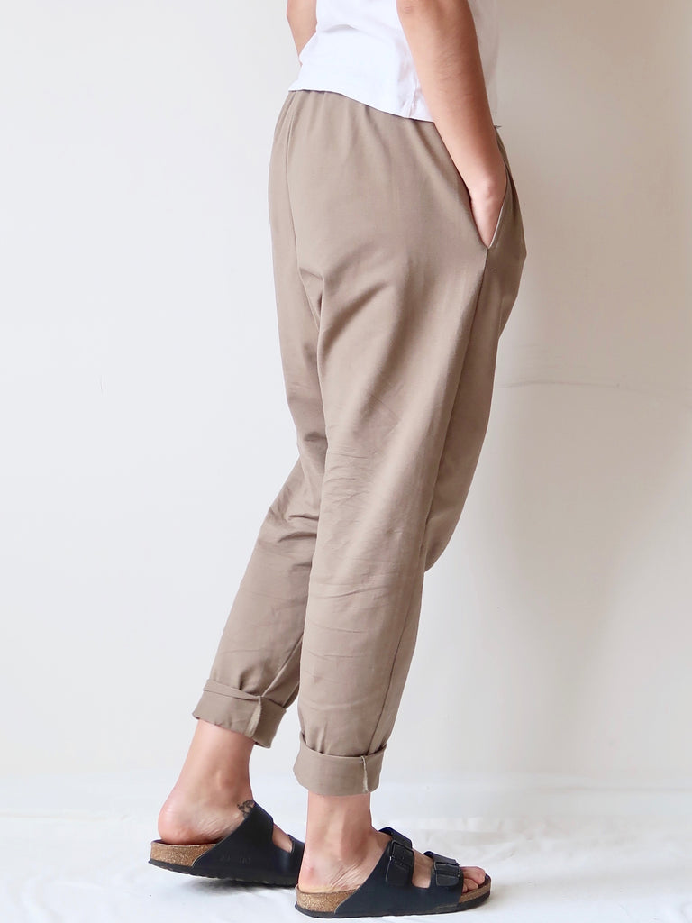 Women's Organic Cotton Joggers - Khaki