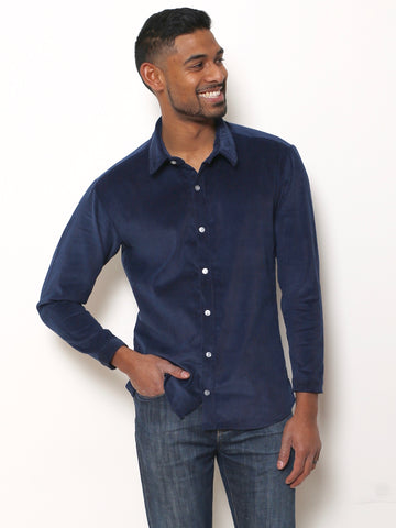 Men's Resort Shirt (Navy Print)