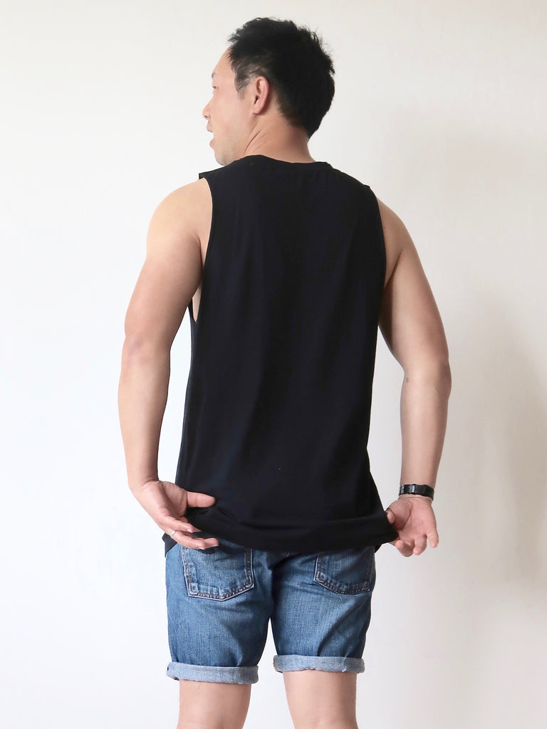 Men's Organic Tank Top (Black)