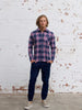 Men's Flannel Shirt (Navy Check)