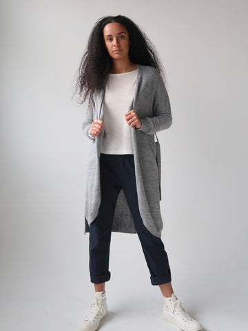 Women's Crew Knit Sweater - Charcoal