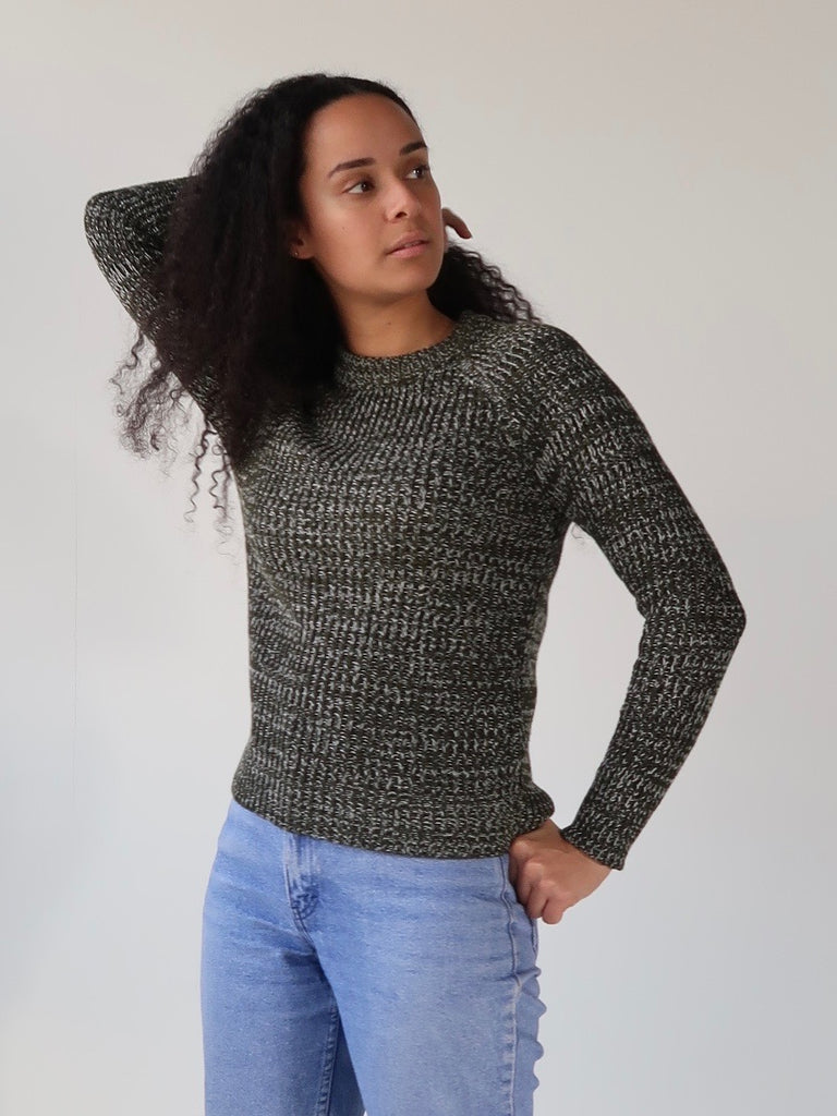 Women's Crew Knit Sweater - Forest Green