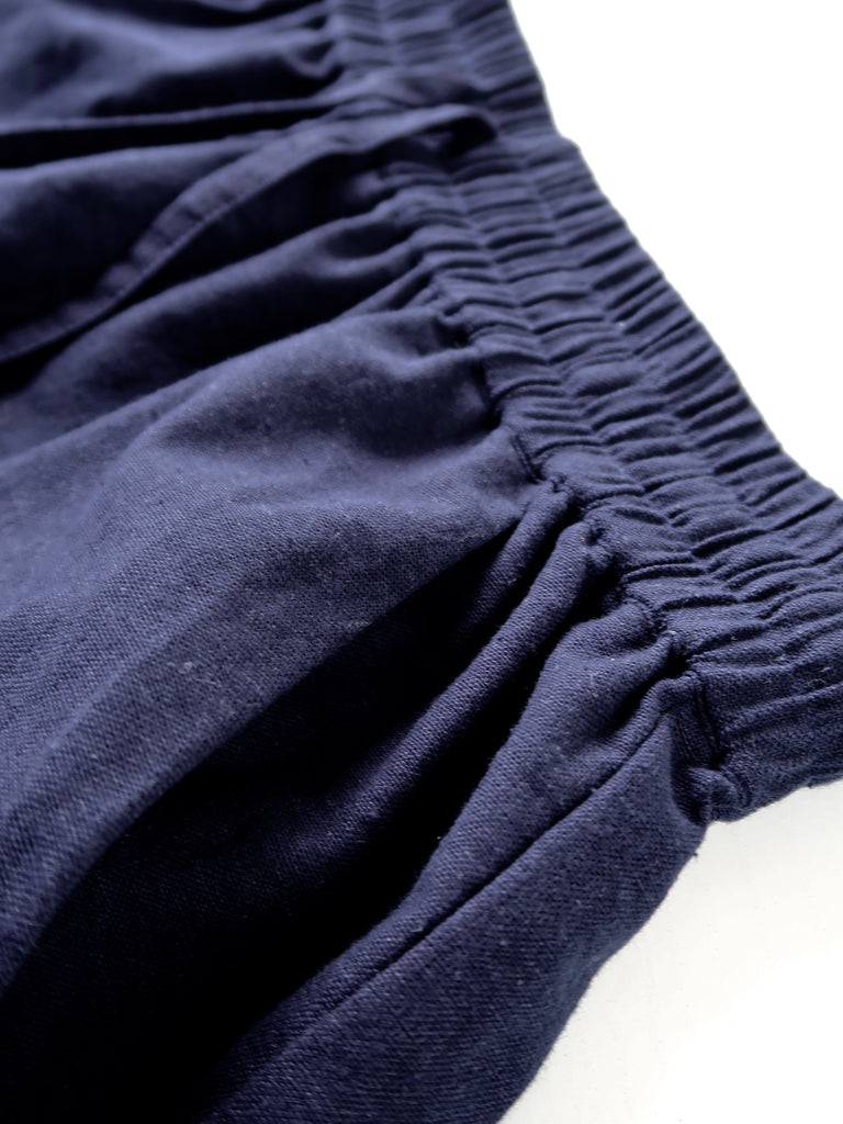 Women's Linen Shorts - Navy