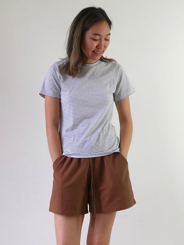 Women's Organic Cotton Boxy Shirt - Natural