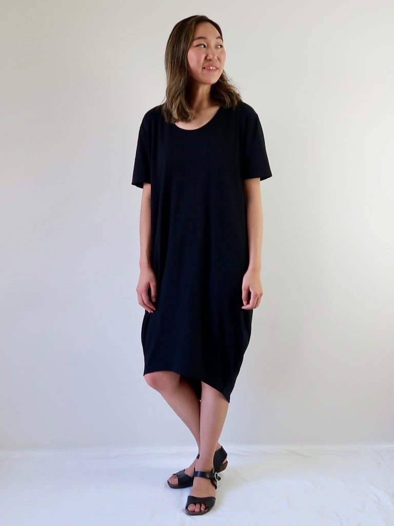 2bb93e4e7326 Women s Cocoon T-shirt Dress - Black – Theo the Label