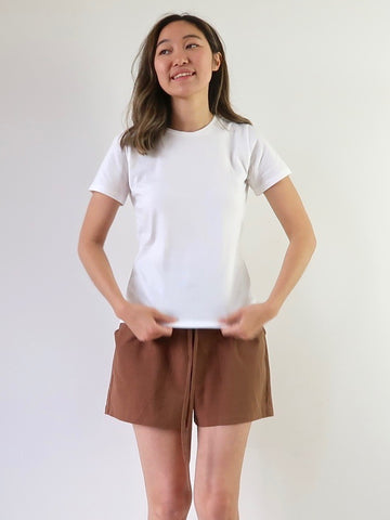 Women's Organic Rib Top - White