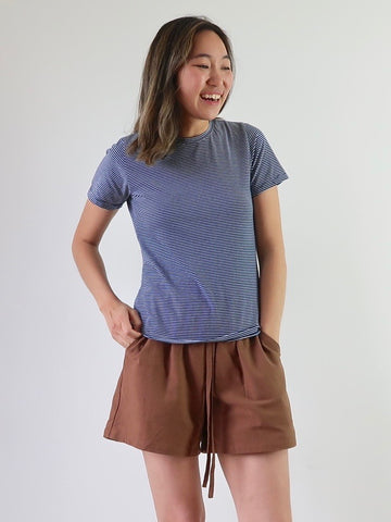 Women's Linen Shorts - Chestnut