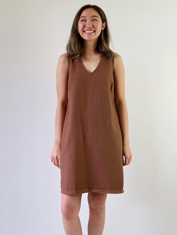 Women's Linen Shirt-dress (Green)