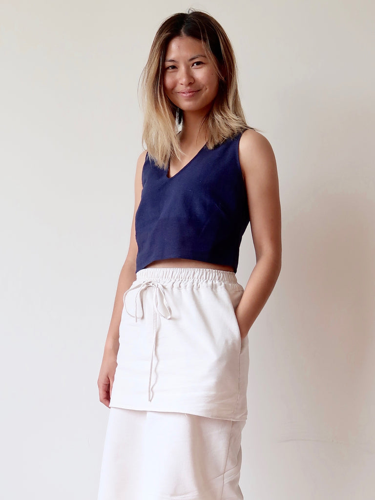 Women's Crop Top - Navy