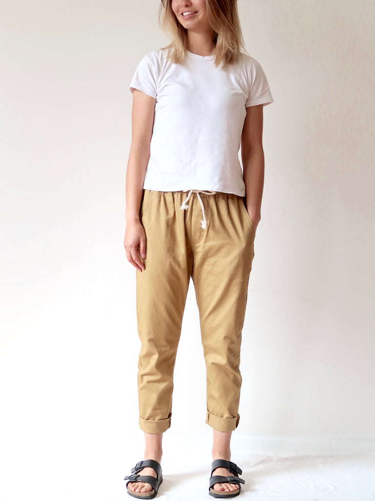 Women's Casual Pants - Mustard