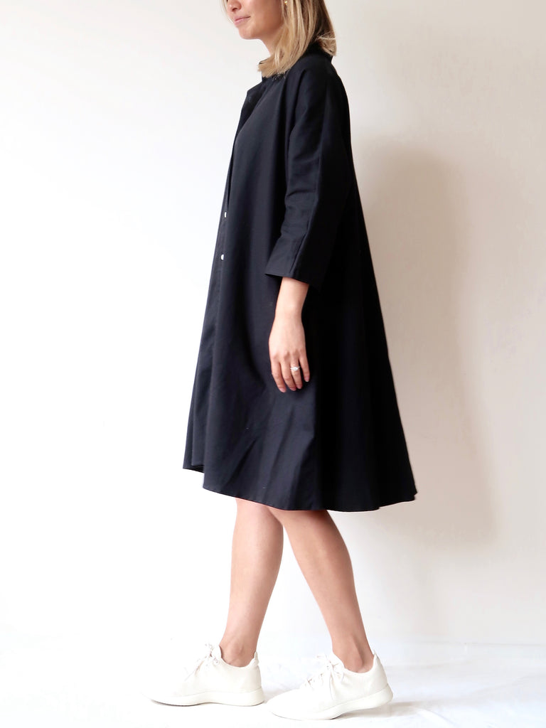 Women's Flare Shirt Dress (Black)
