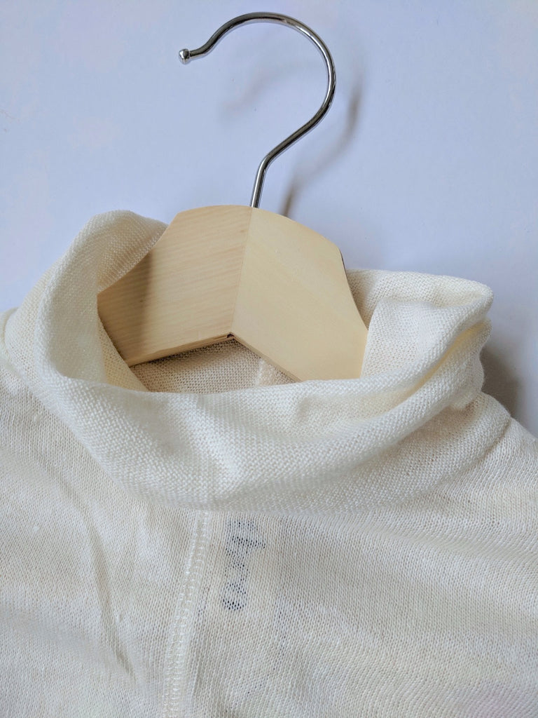 Women's Linen Skivvy (Cream)