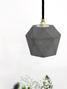 T Sereis Concrete Bundle Pendant by Gantlights