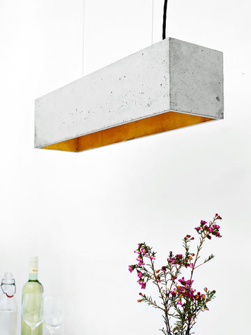 B Series Cubic Concrete Pendant by Gantlights