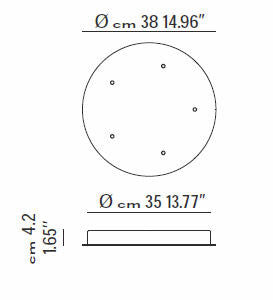 Ceiling Rose - 5-drop by LODES - The Light Unit