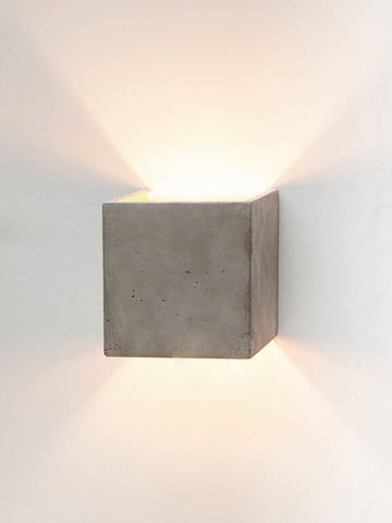 B Series Concrete Cubic Wall Light by Gantlights