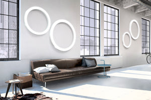 Silver Ring Ceiling/Wall light by Panzeri