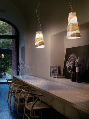 Cleo 2 drop Pendant range by Vistosi