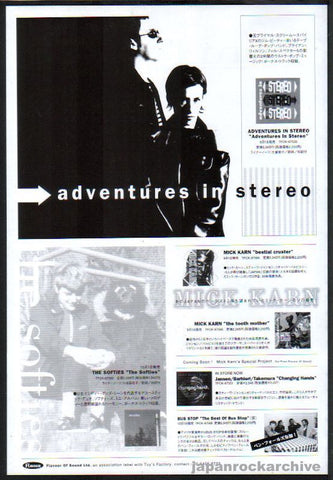 Adventures In Stereo 1997/10 S/T Japan debut album promo ad