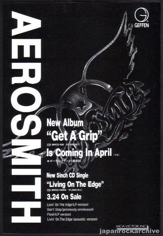 Aerosmith 1993/04 Get A Grip Japan album promo ad