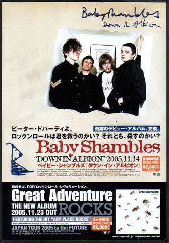 Babyshambles 2005/12 Down In Albion Japan album promo ad