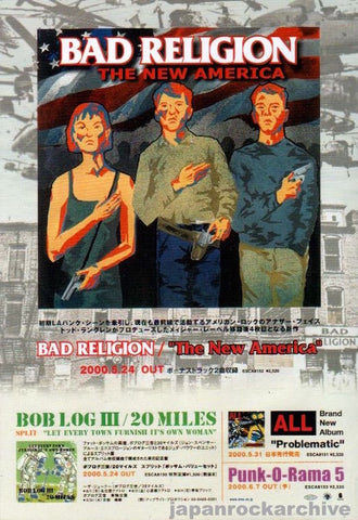 Bad Religion 2000/06 The New America Japan album promo ad