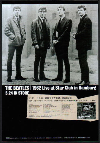 The Beatles 2000/06 1962 Live At The Star Club in Hamburg Japan album promo ad