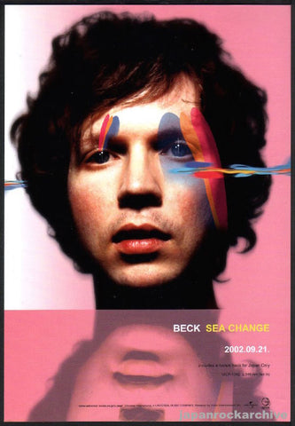 Beck 2002/10 Sea Change Japan album promo ad
