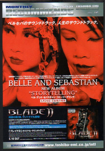 Belle and Sebastian 2002/06 Storytelling Japan album promo ad