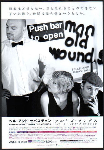 Belle and Sebastian 2005/06 Push Barman To Open Old Wounds Japan album promo ad