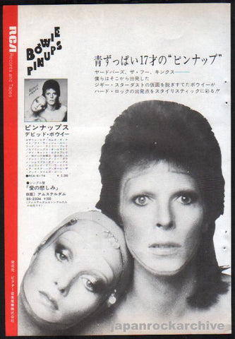 David Bowie 1974/01 Pinups Japan album promo ad