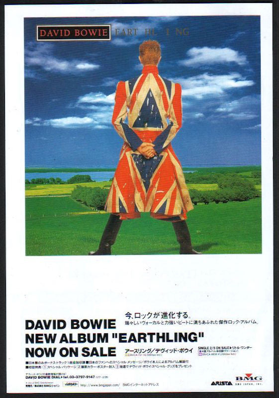 David Bowie 1997/03 Earthling Japan album promo ad