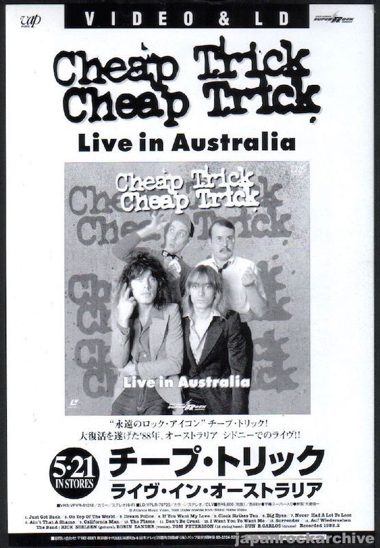 Cheap Trick 1999/07 Live In Australia Japan video promo ad