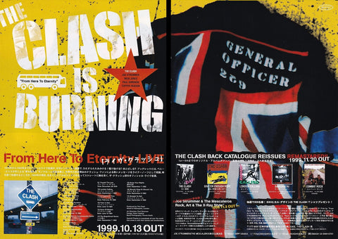 The Clash 1999/11 From Here To Eternity Japan album promo ad