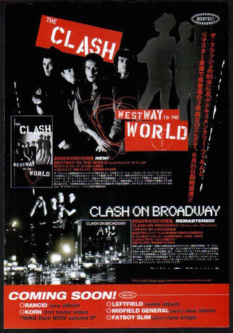 The Clash 2000/07 West Way To The World / Clash on Broadway Japan video / album promo ad