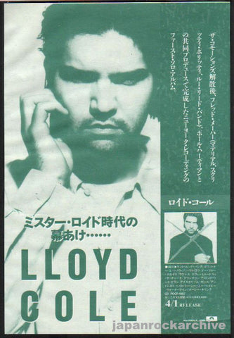 Lloyd Cole 1990/05 S/T Japan album promo ad