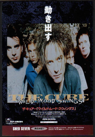 The Cure 1996/06 Wild Mood Swings Japan album promo ad