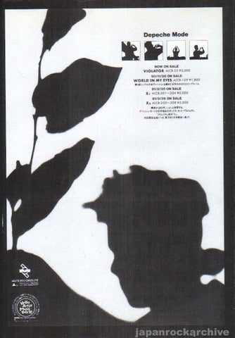 Depeche Mode 1990/12 Violator Japan album promo ad