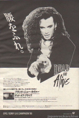 Dead Or Alive 1987/01 Brand New Lover Japan album promo ad