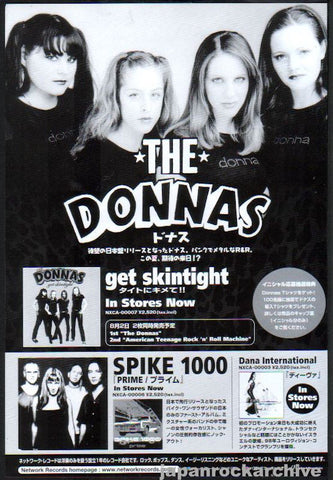 The Donnas 2000/06 Get Skintight Japan album promo ad