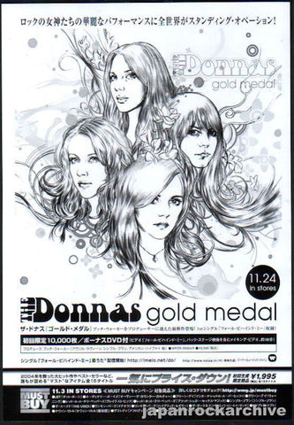 The Donnas 2004/12 Gold Medal Japan album promo ad